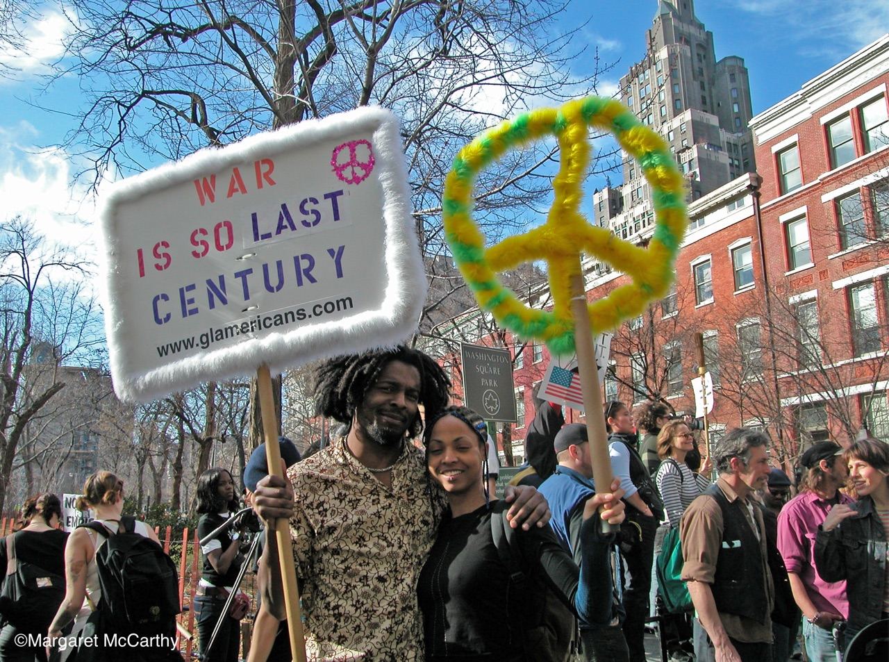 War Is So Last Centruy, Glamericans March & Rally to Protest U.S. Invasion of Iraq, NYC 03/22/2003
