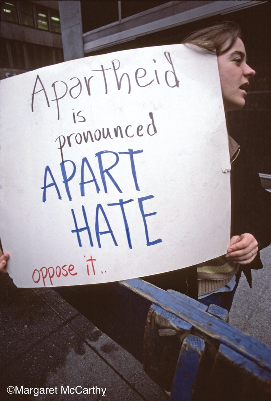 Anti-Apartheid Rally, South African Consulate, NYC 03/01/1985