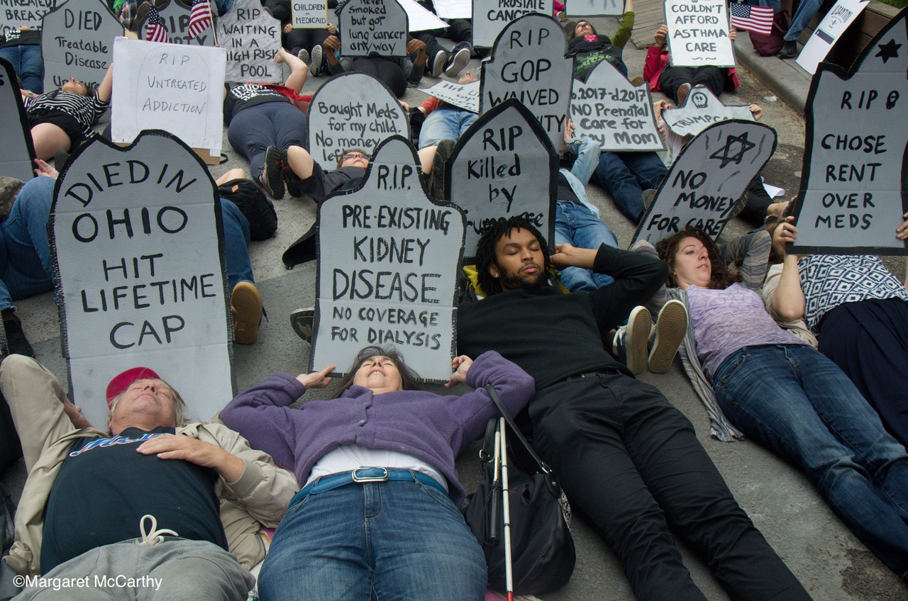 NYC Die-In for Health Care, June 4, 2017