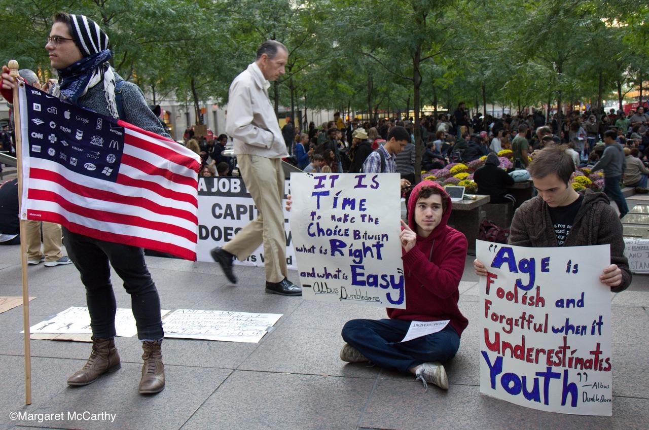 Occupy Wall Street, Zuccotti Park, NYC, 9-18-2011