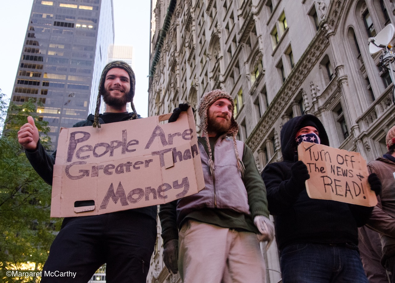 Occupy Wall Street, Zuccotti Park, New York City, 11-05-2011