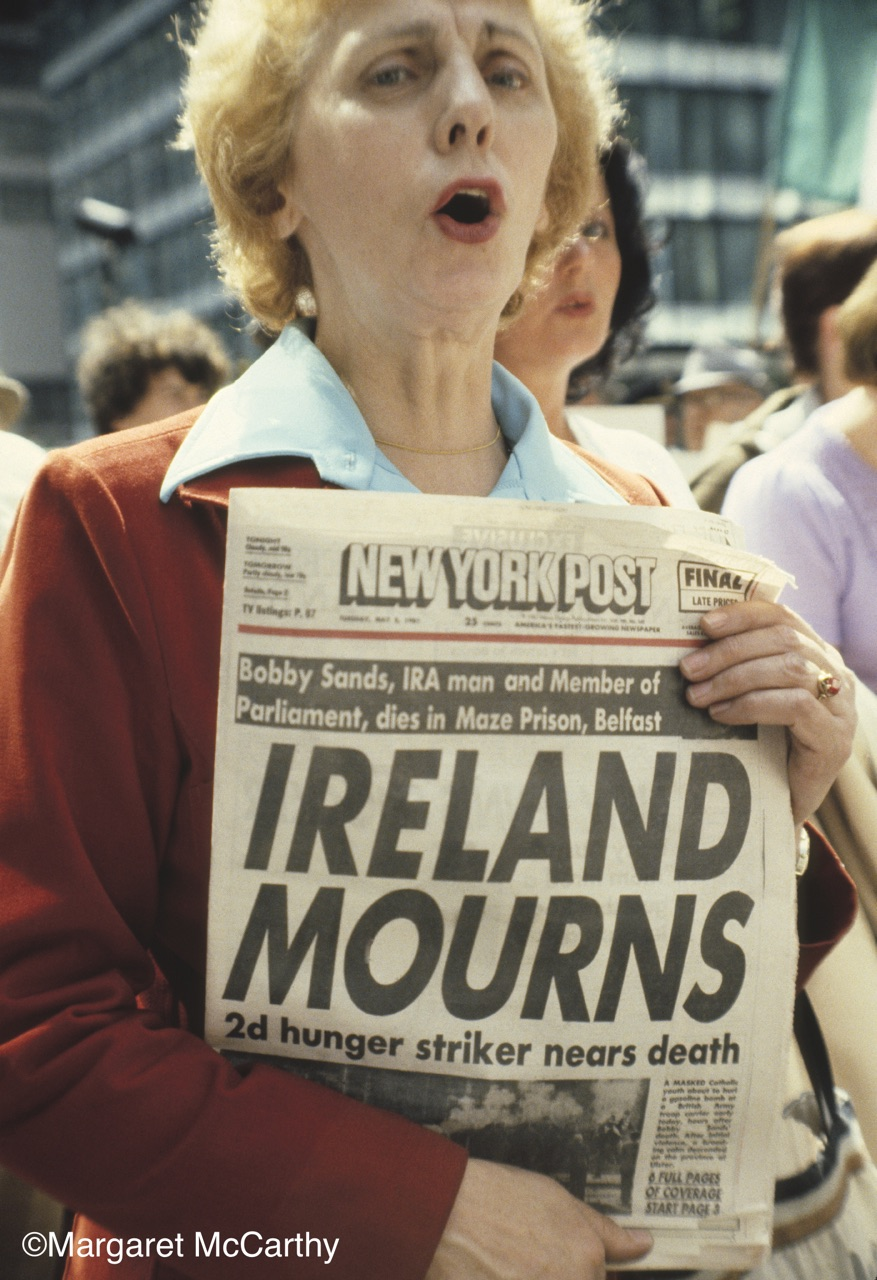 IRELAND MOURNS, Irish Americans Protest Bobby Sands Death, Outside British Consulate, NYC, 05/06/1981