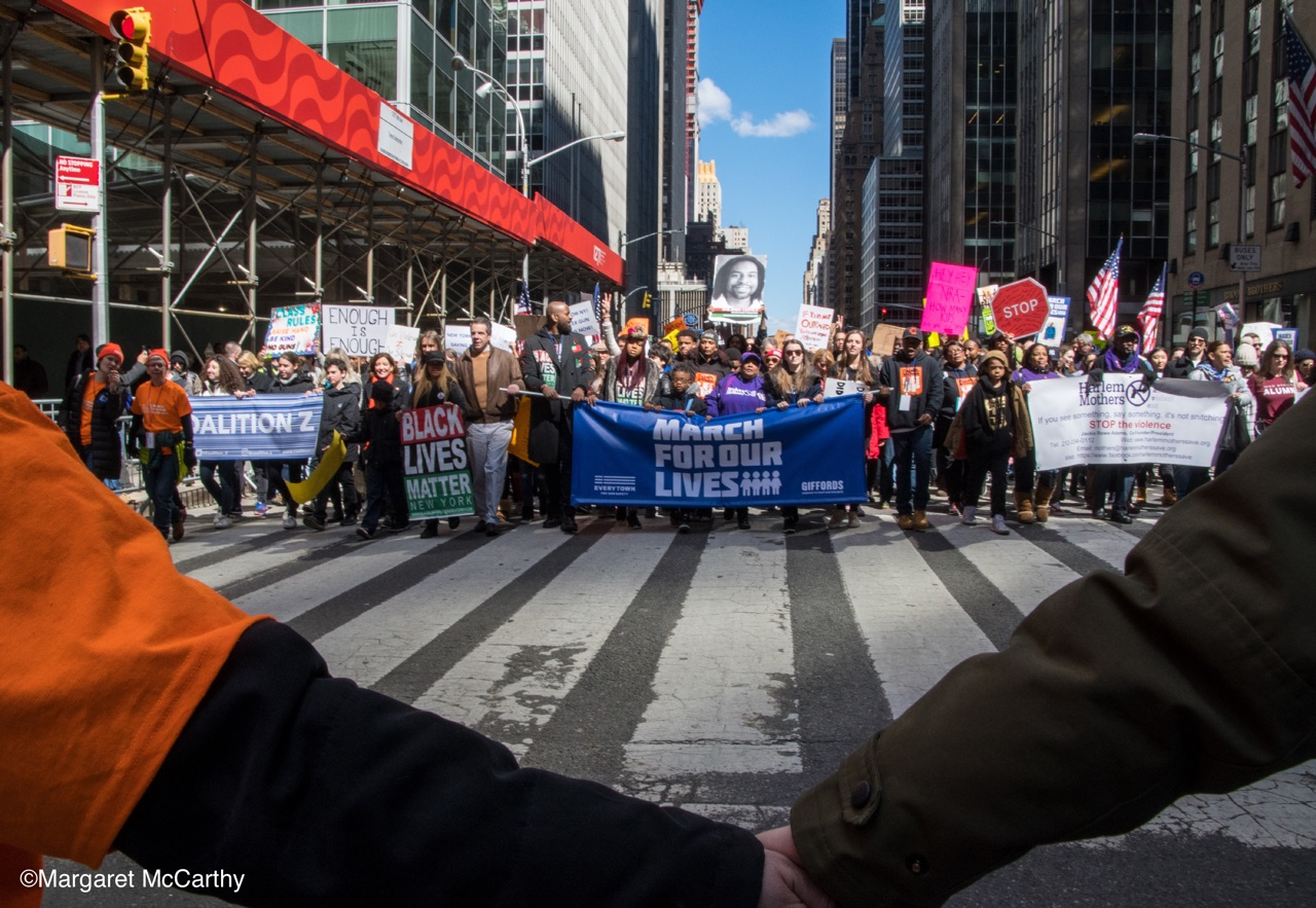 MARCH FOR OUR LIVES AGAINST GUN VIOLENCE, New York, NY 3-34-2018