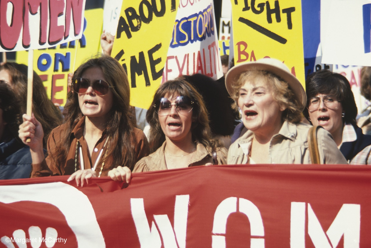 Gloria Steinem & Bella Abzug, Women's March, NYC, NY 1979