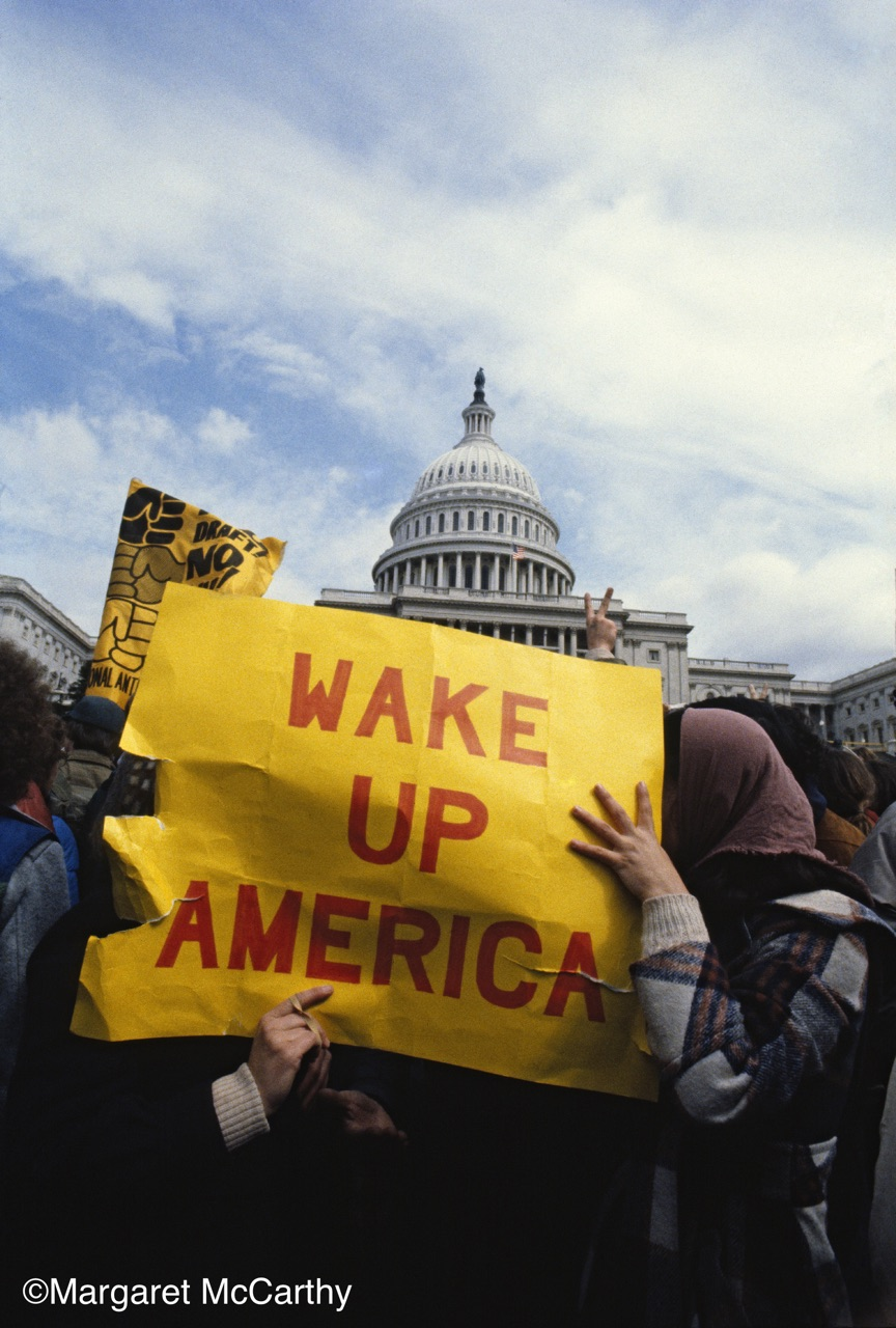 Wake Up America,  National Mobilization Against The Draft, Washington, D.C. 03/22/80